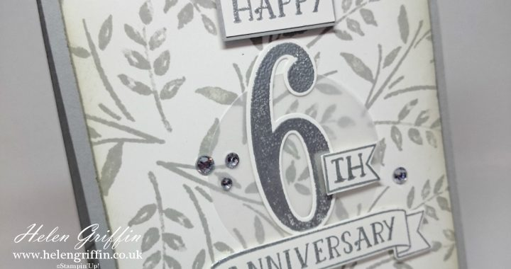 Elegant anniversary card with number of years stampinup helen elegant anniversary card with number of years stampinup m4hsunfo Images