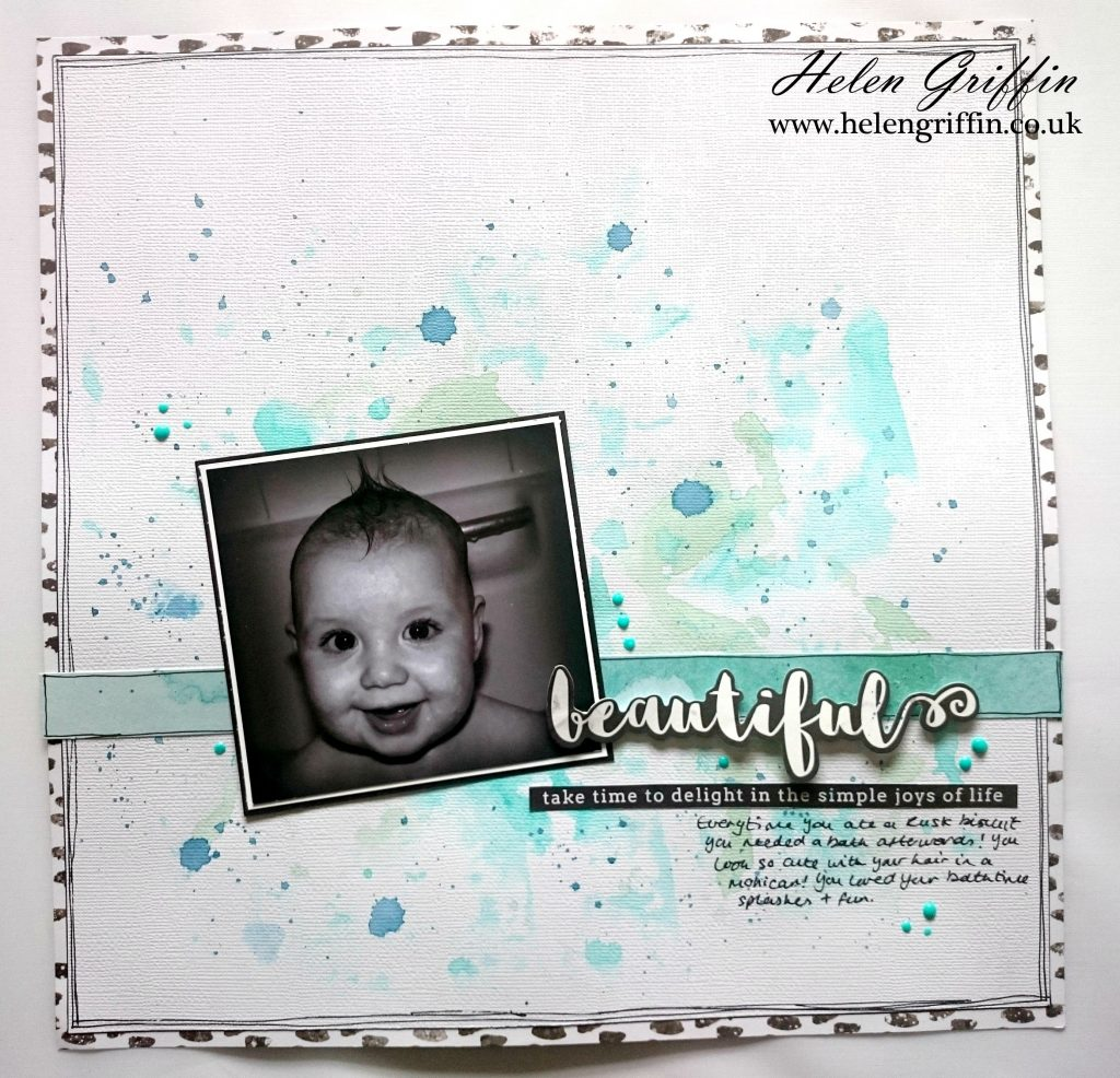 Baby scrapbook ideas uk - The 12 12 Cardstock I Used Was A Weave Paper From Kaisercraft Shade Coconut I Found This Coped With The Liquid Much Better Than Normal Cardstock