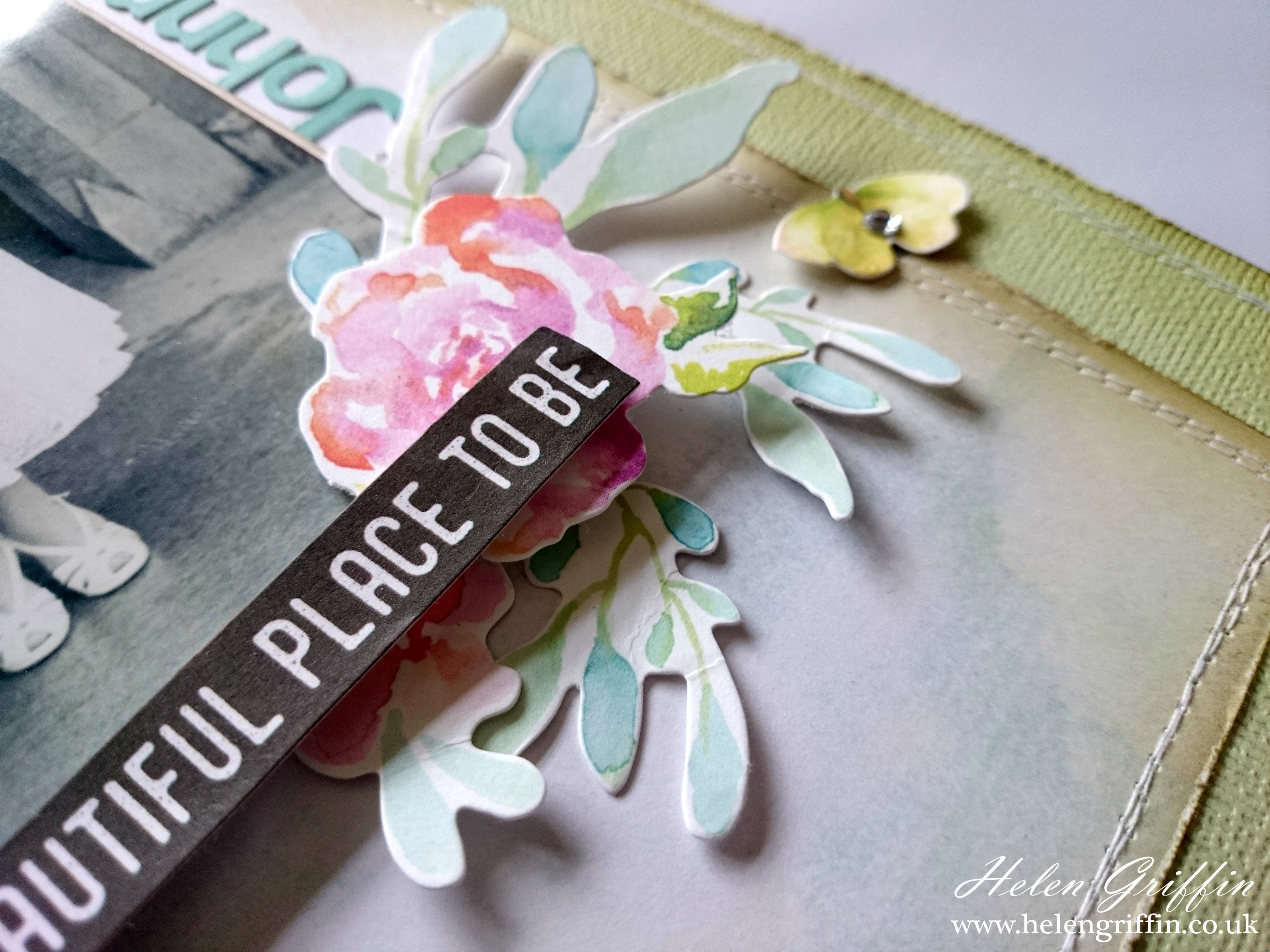How to scrapbook uk - Vintage Wedding Scrapbook Page Without Heritage Colours Helen Griffin