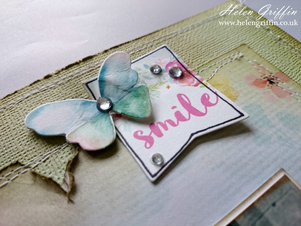 How to scrapbook uk - I Have Used The Wildflower Collection From Kaisercraft Along With The Coordinating Die Cut Pack I Have Distressed The Edges Added Some Brown Ink And Sewn