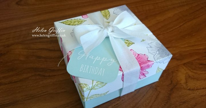 Tutorial pretty floral gift box with watercolour flowers helen tutorial pretty floral gift box with watercolour flowers negle Images