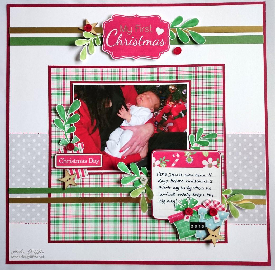 Babys first christmas scrapbook