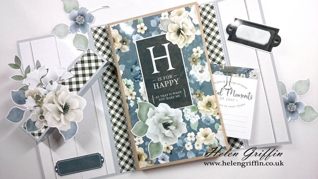 Tutorial | Paperbag Trifold Folio | Farmhouse Theme