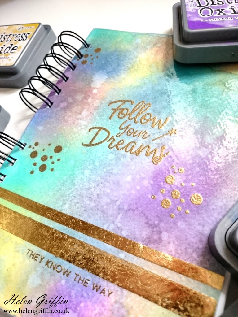 Rainbow Book Cover Diy ~ Tutorial diy galaxy cover rainbow planner helen griffin