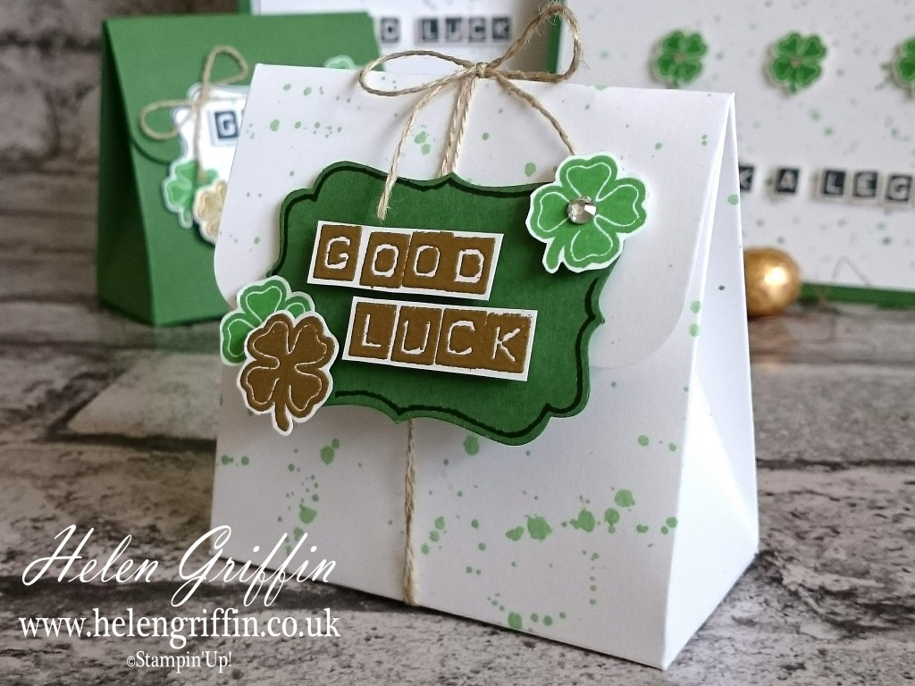 Helen Griffin Stampin'Up Good Luck Collection All Occasions White Bag