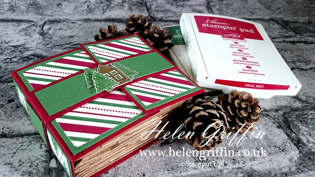 Stampin Up! Christmas In July 2016 Christmas Mini Paperbag Album Helen Griffin UK 1