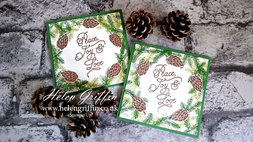 Stampin Up! Christmas In July 2016 Peace this christmas pinecone card Helen Griffin uk