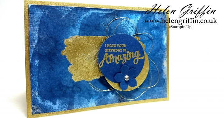 Gold Navy Birthday Card With Mixed Borders Stamp Set Helen Griffin