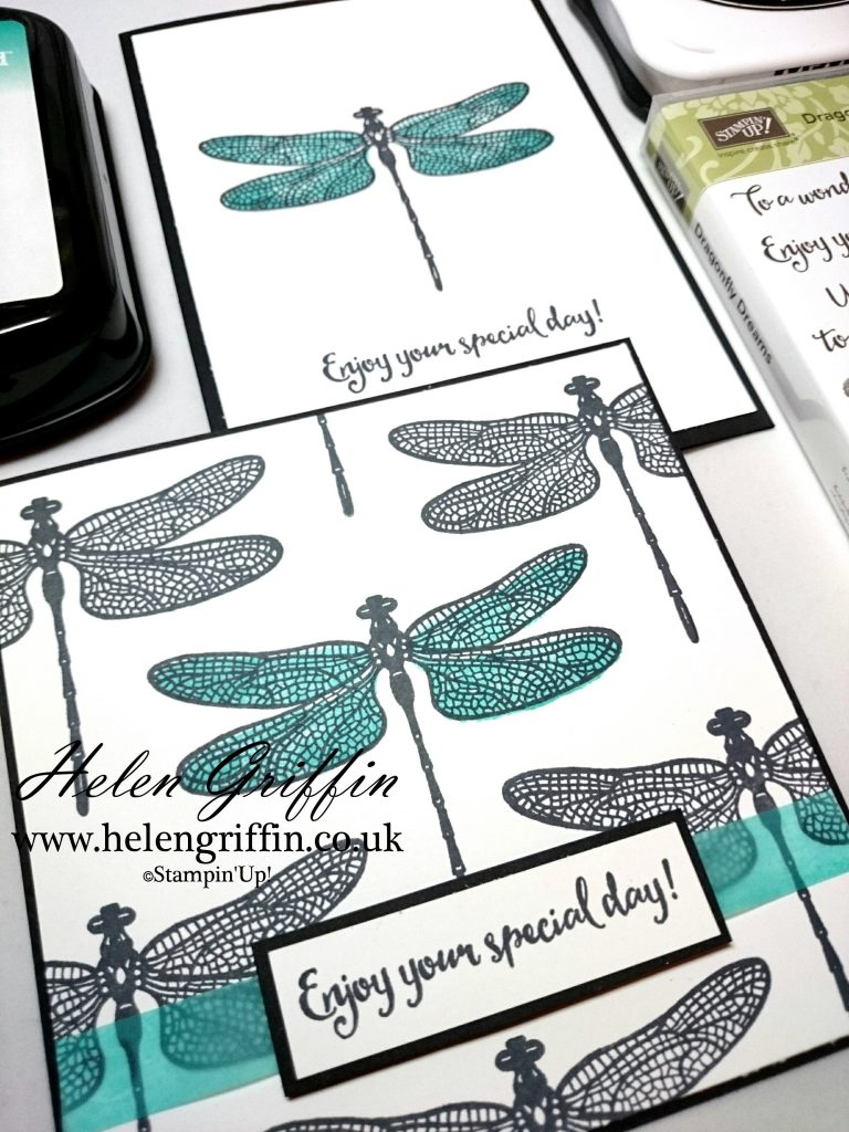 Helen Griffin UK Stampin'Up! Dragonfly Dreams Black and white card 3