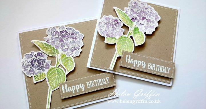 Springtime 1 Hydrangea Card With Free Stamps From Simply Cards