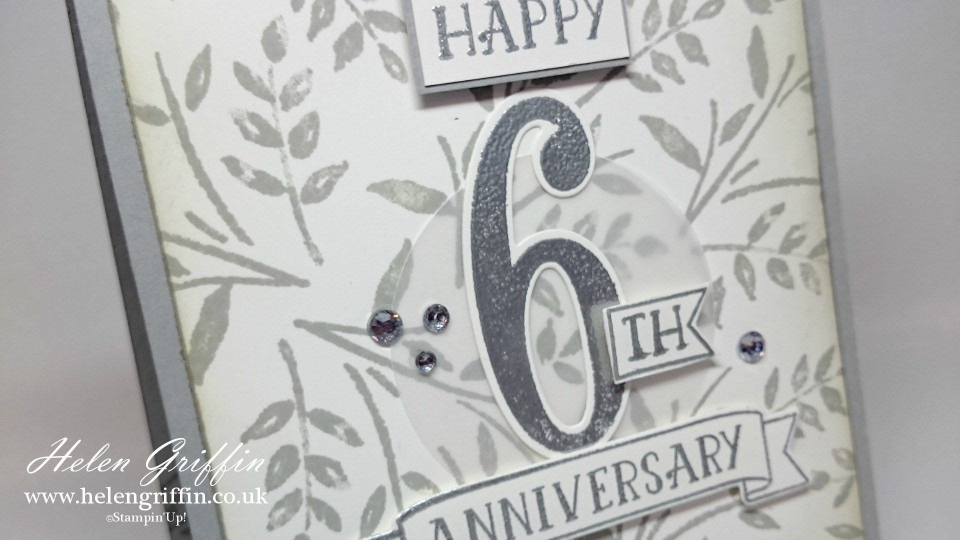 Elegant Anniversary Card With Number of Years | Stampin'Up ...