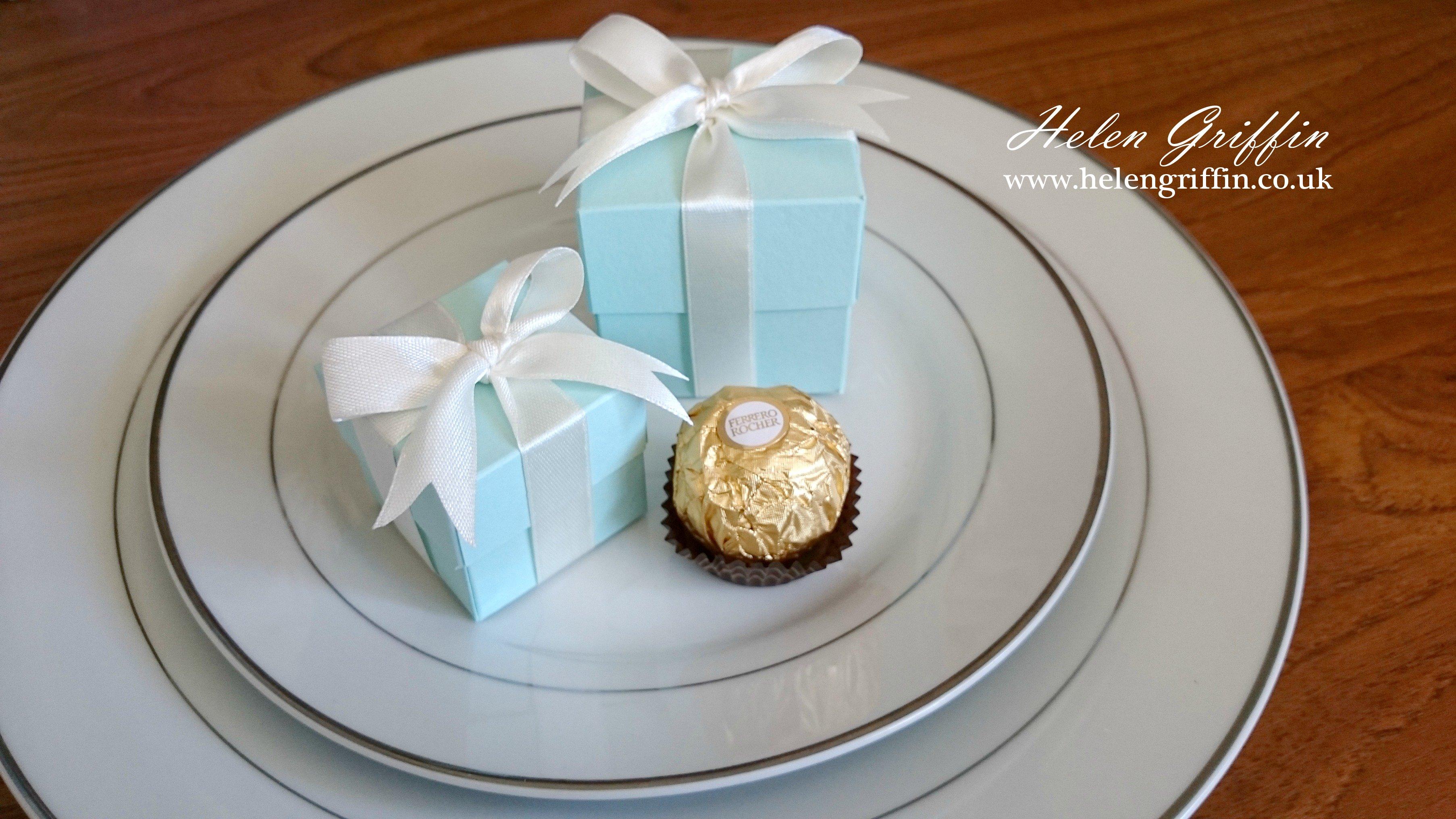 Tutorial Tiffany Inspired Wedding Favour Gift Box Ferrero Rocher
