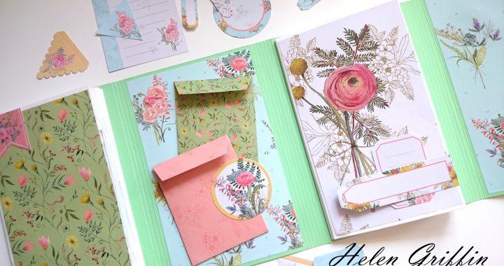 tutorial paperbag flip book mini album
