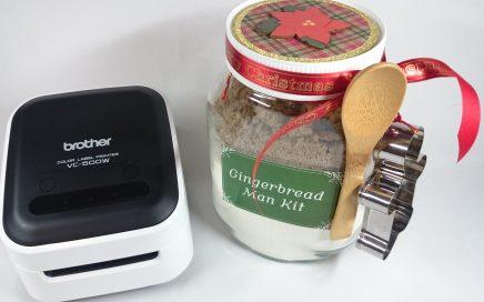 Helen Griffin UK Gingerbread Man Jar Brother Color Label Printer