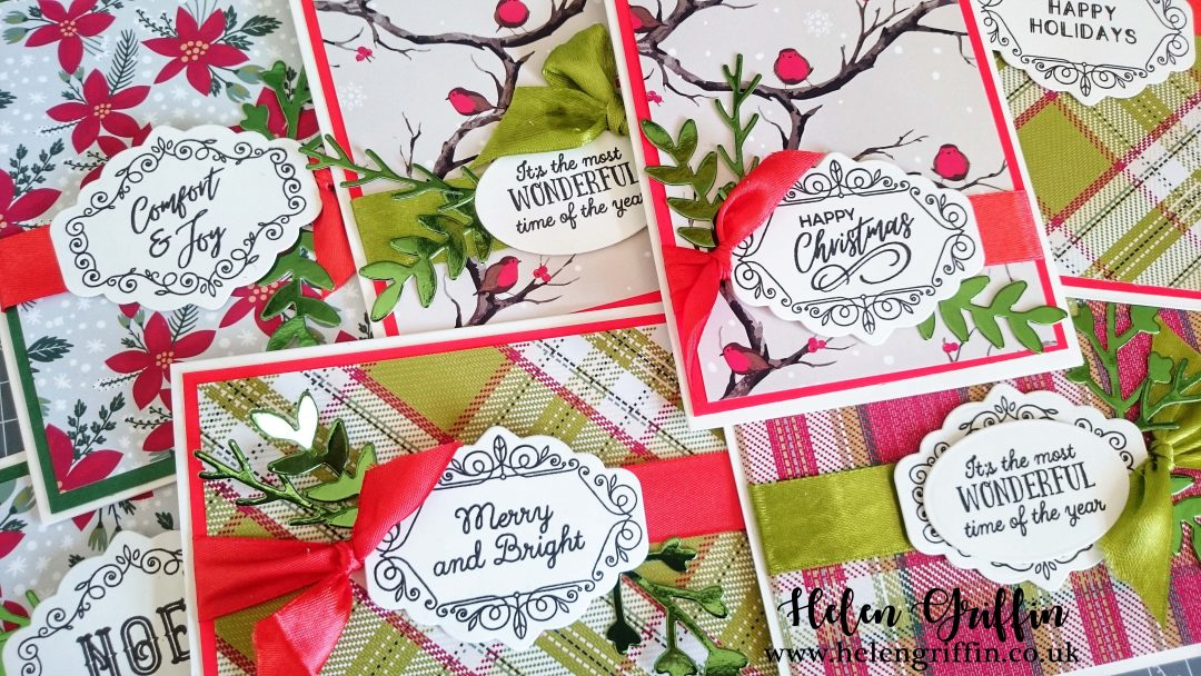 Traditional Christmas Cards | Quick & Easy | Tutorial – Helen Griffin
