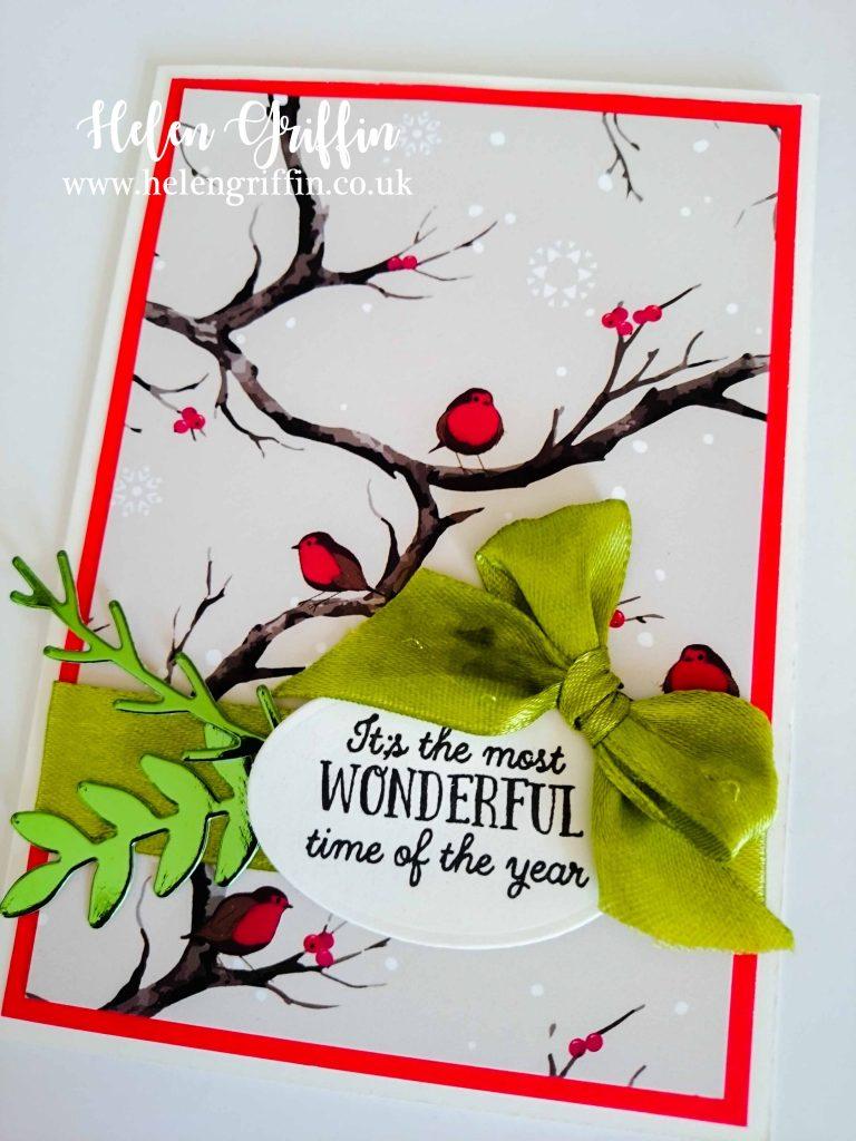 Helen Griffin UK Robin Christmas Card