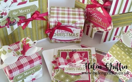 Helen Griffin UK 9th Day of Christmas 123 Punch Board makes