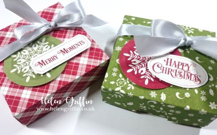 12th Day of Christmas 2018 Helen Griffin UK Mini Pizza boxes Table Favours Favors 1