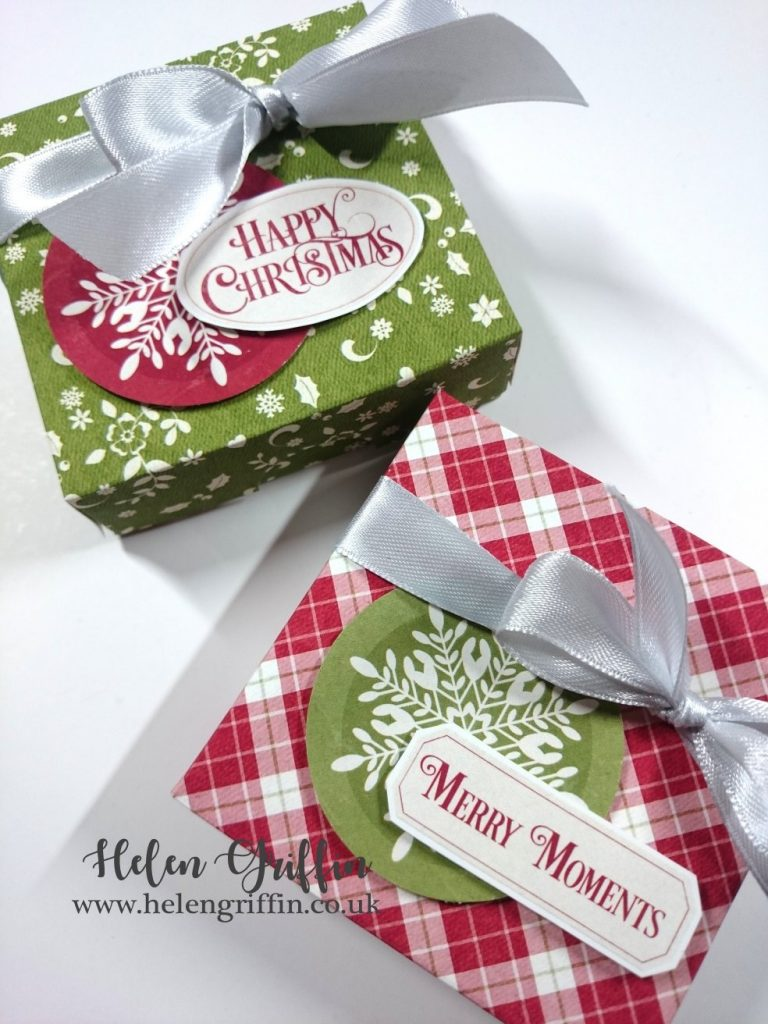 12th Day of Christmas 2018 Helen Griffin UK Mini Pizza boxes Table Favours Favors 2