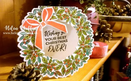 Day 10 Helen Griffin UK Wreath shape christmas card 1