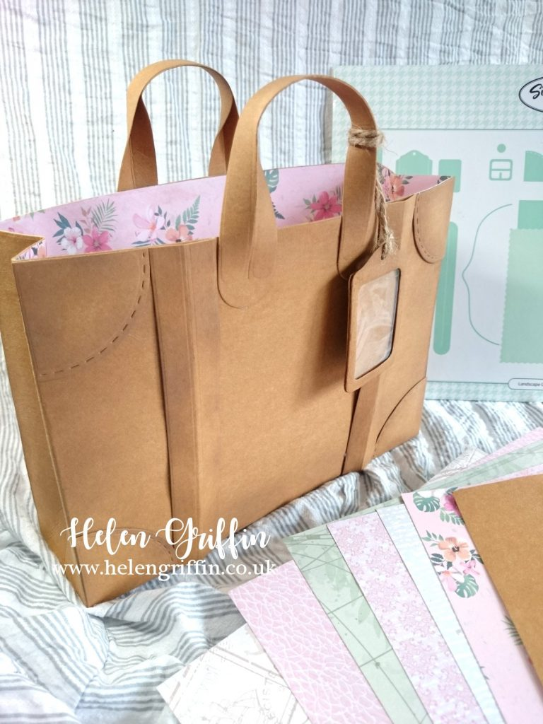 Helen Griffin UK Kraft tex Luggage Gift Bag 1