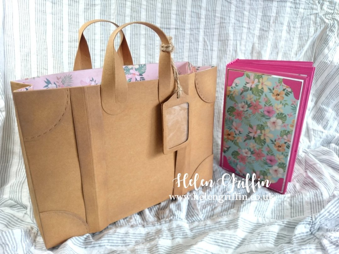Helen Griffin UK Kraft tex Luggage Gift Bag 2