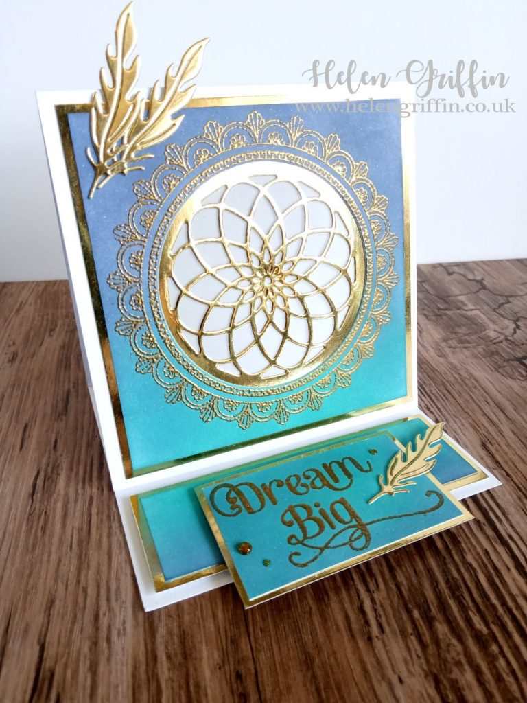 Helen Griffin UK Dreamcatcher tealight card