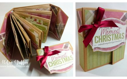 Helen Griffin UK Christmas in July Day 2 Papervag album with lid 1