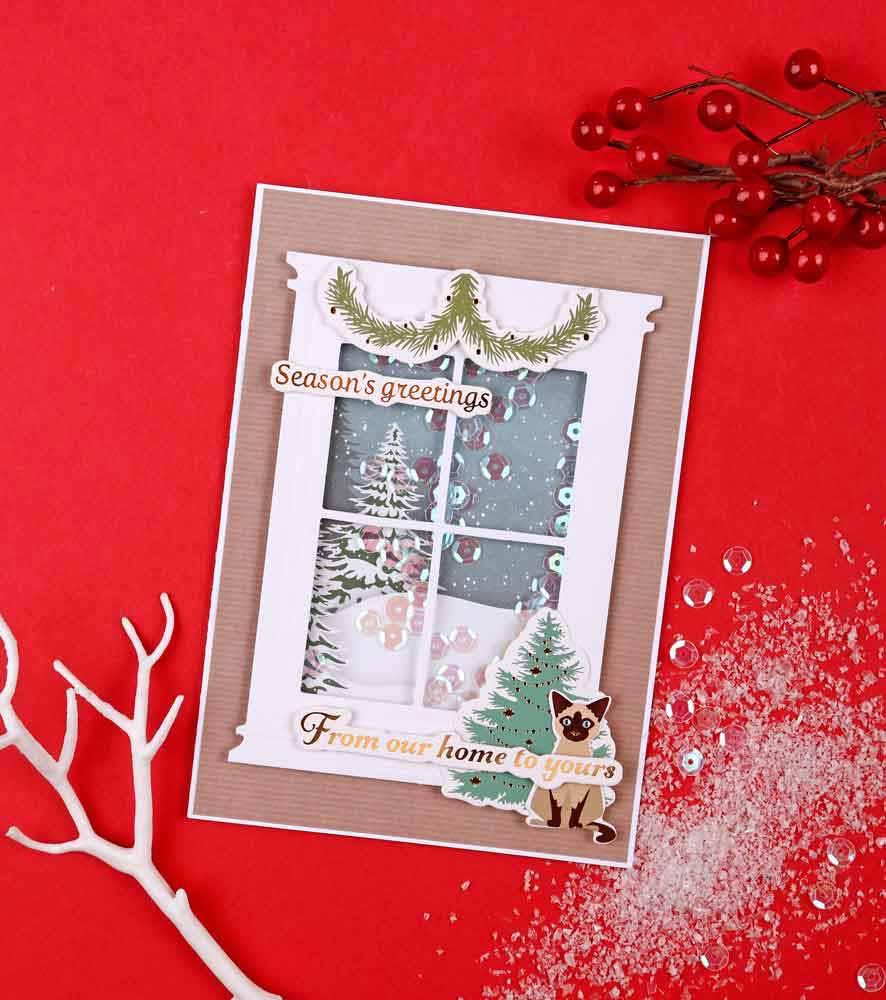 Helen Griffin UK papercraft essentials 179 christmas shaker card