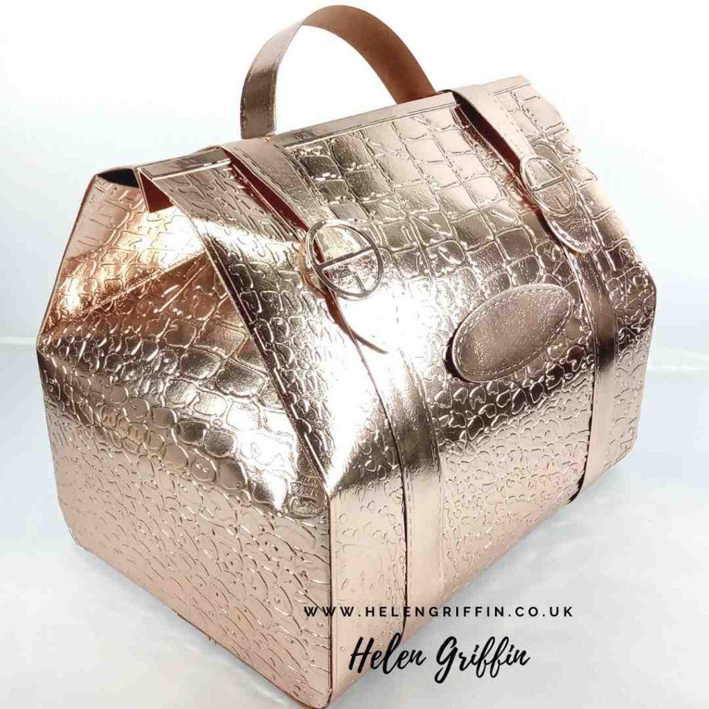 Helen Griffin UK mock croc drs bag rose gold