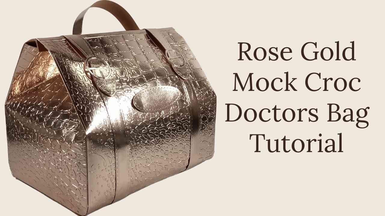 Rose Helen Griffin uk Gold Mock Croc Doctors Bag